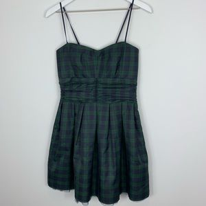 Heritage 1981 Green Blue Plaid Dress tulle Size M